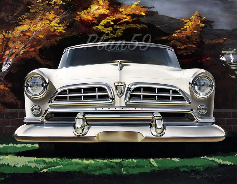 Plan59 :: Classic Car Art :: 1955 Chrysler Windsor Deluxe