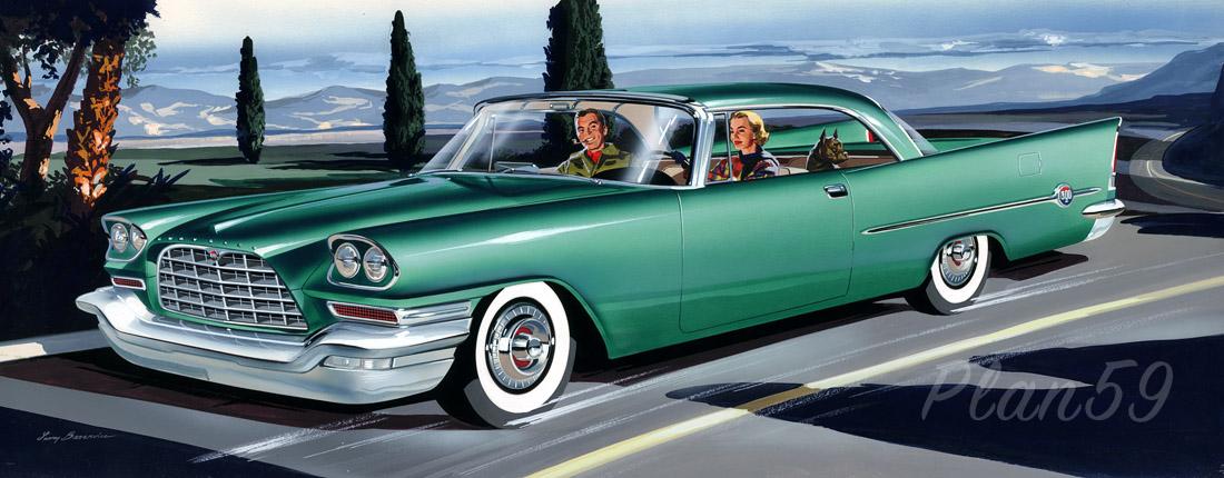 plan59 classic car art 1957 chrysler 300c rh plan59 com