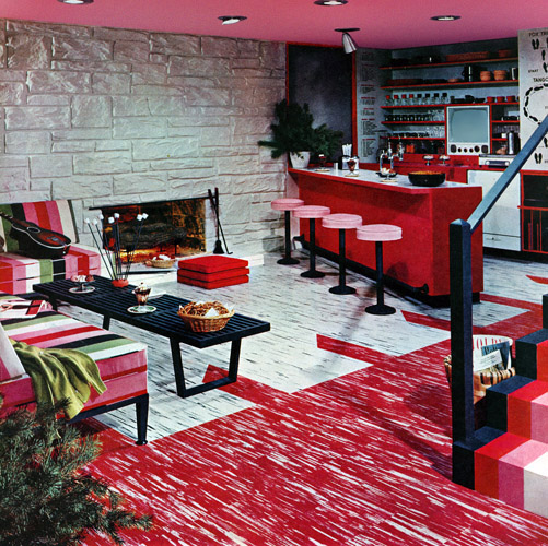 Plan59 retro 1940s 1950s decor furniture basement for 1950 s decoration