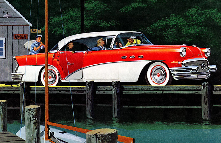 Plan59 classic car art 1956 buick special for 1956 buick special 4 door