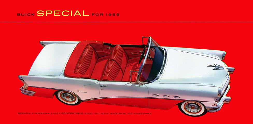 Plan59 Classic Car Art 1956 Buick Special Convertible