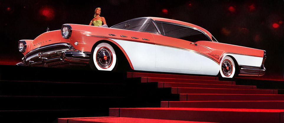 Plan59 Classic Car Art 1957 Buick Century