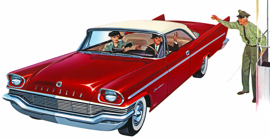 Plan59 classic car art vintage ads 1957 chrysler for 1957 chrysler saratoga 4 door