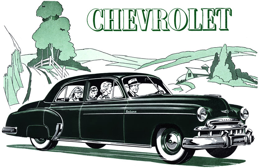 Plan59 classic car art vintage ads 1949 chevrolet for 1949 chevy 4 door sedan