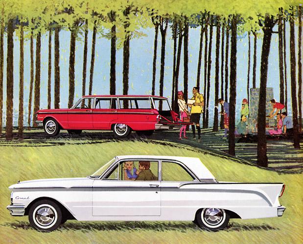 Plan59 Classic Car Art 1960 Comet By Bob Peak