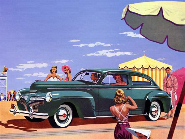 Plan59 Classic Car Art 1941 Desoto