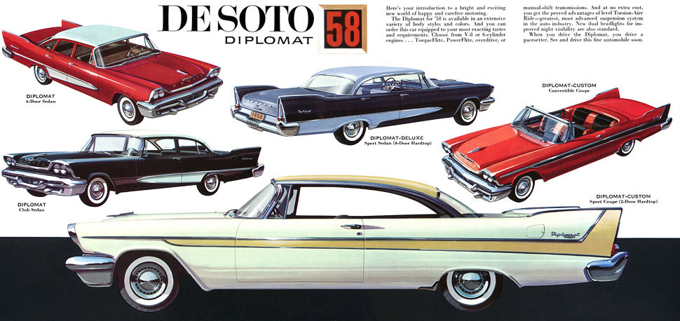 Imcdb Org 1958 De Soto Diplomat Custom Four Door Hardtop