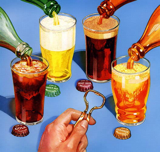 "There's nothing ""soft"" about soft drinks! Vigor abounds in every bottle!"