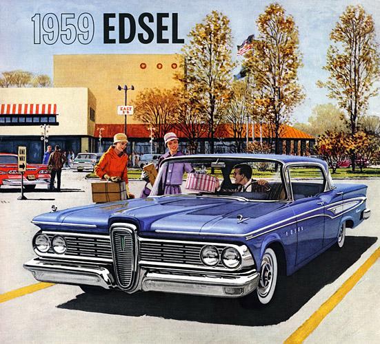 Plan59 Classic Car Art 1959 Edsel Corsair