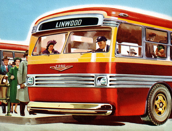 Ford 27-Passenger Motor Coaches for 1953   The other side   Recently ...