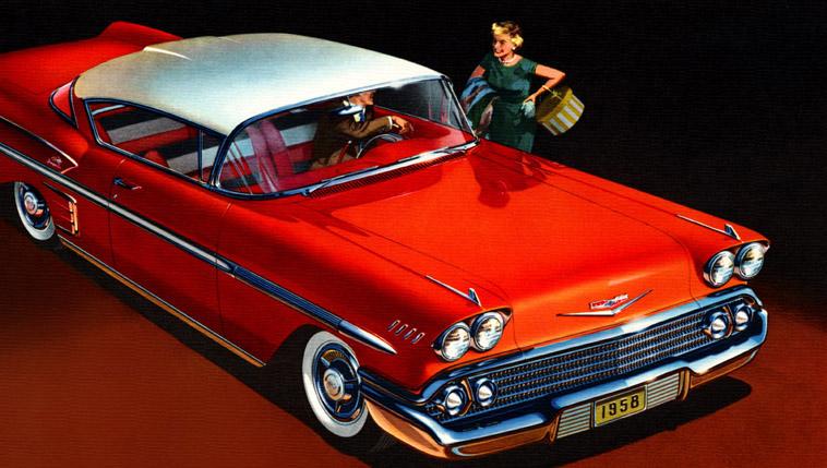 Plan59 Classic Car Art Vintage Ads 1958 Chevrolet