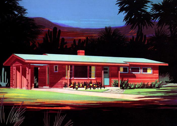 Plan59 retro 1940s 1950s decor furniture dream for Architecture 1950