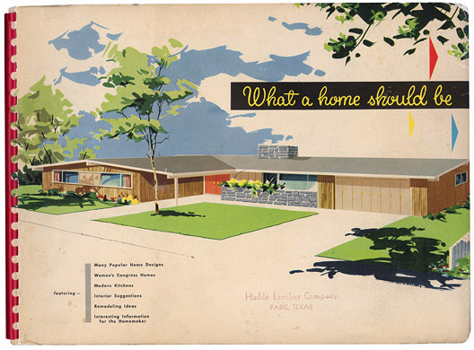 Free home plans 1950s home plans for The new encyclopedia of home designs