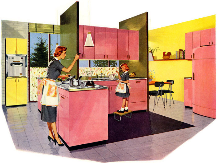 Plan59 Retro 1940s 1950s Decor Furniture Jones Laughlin Steel 1955