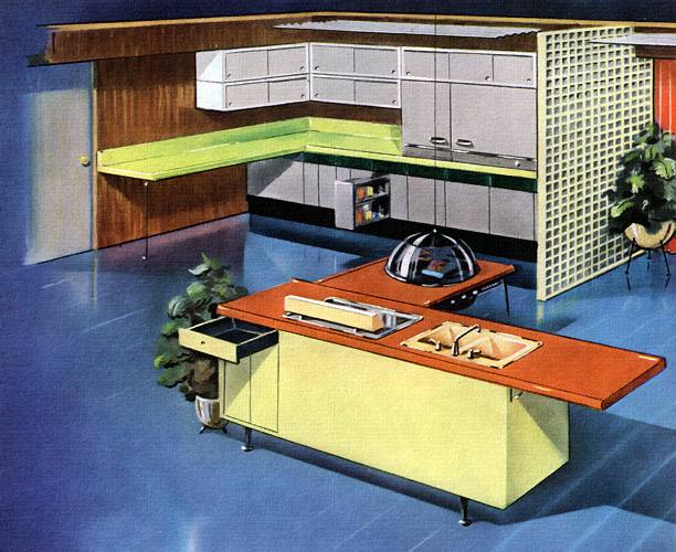 Plan59 Retro 1940s 1950s Decor Furniture 1957 Kitchen Of The Future