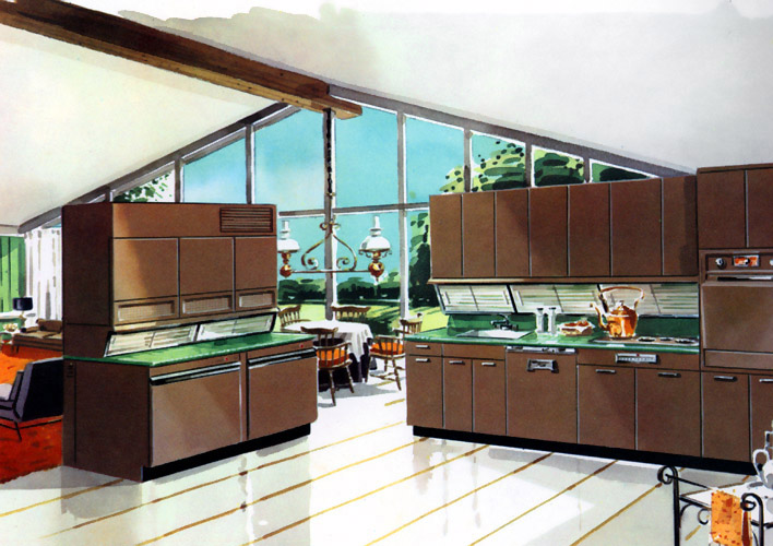 Plan59 :: Retro 1940s 1950s Decor & Furniture :: Model kitchen, 1957