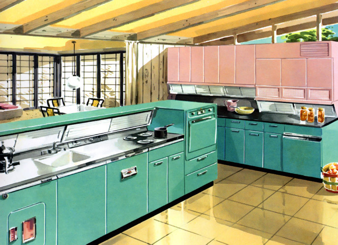 1950 decoration in kitchen