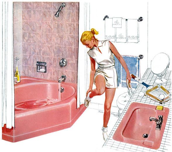 Plan59 retro 1940s 1950s decor furniture robert for Bathroom accessories ads