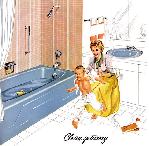 Plan59 retro 1940s 1950sdecor kohler of kohler 1960 for 60 s bathroom ideas