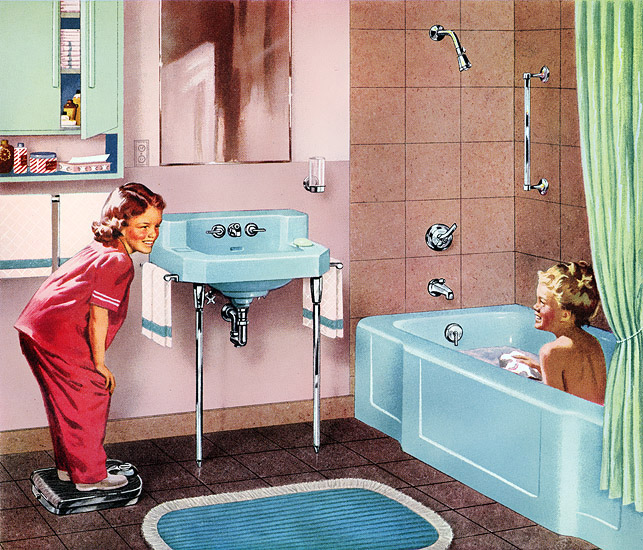 Plan59 retro 1940s 1950s decor furniture kohler of for 1940s bathroom decor