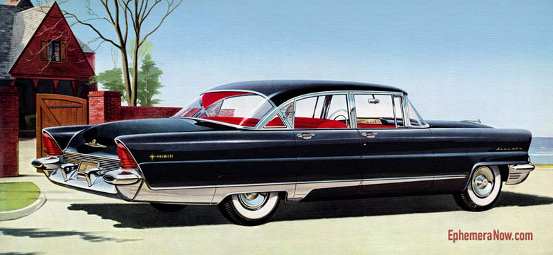 Plan59 Classic Car Art Vintage Ads 1956 Lincoln Premiere