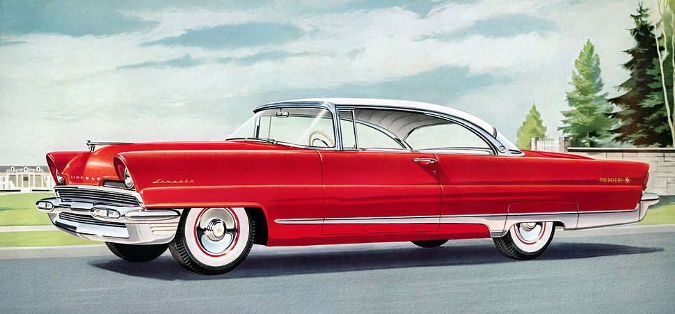 Plan59 Classic Car Art 1956 Lincoln Premiere
