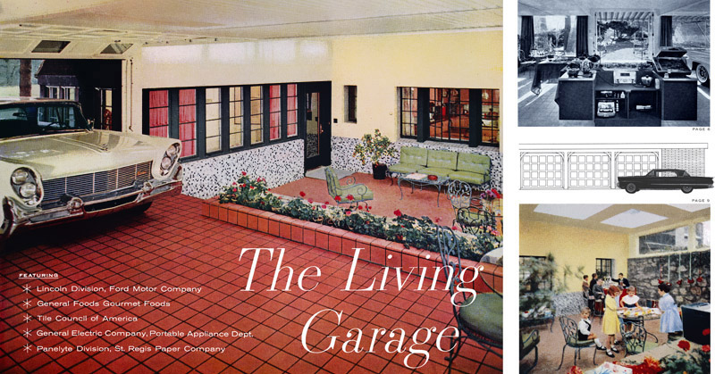 Plan59 classic car art 1958 lincoln and the living for Garage ford 59