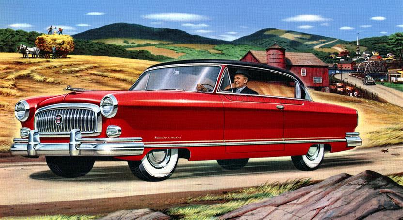 Classic Car Art Vintage Ads Nash Airflyte