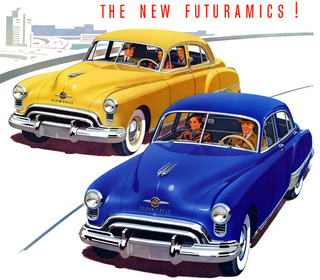 Plan59 :: Classic Car Art :: Vintage Ads :: Futuramic 1949