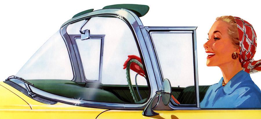 Classic Convertible Car Ads