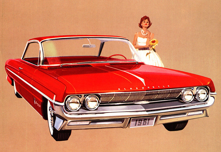 Classic Car Art Vintage Ads Oldsmobile