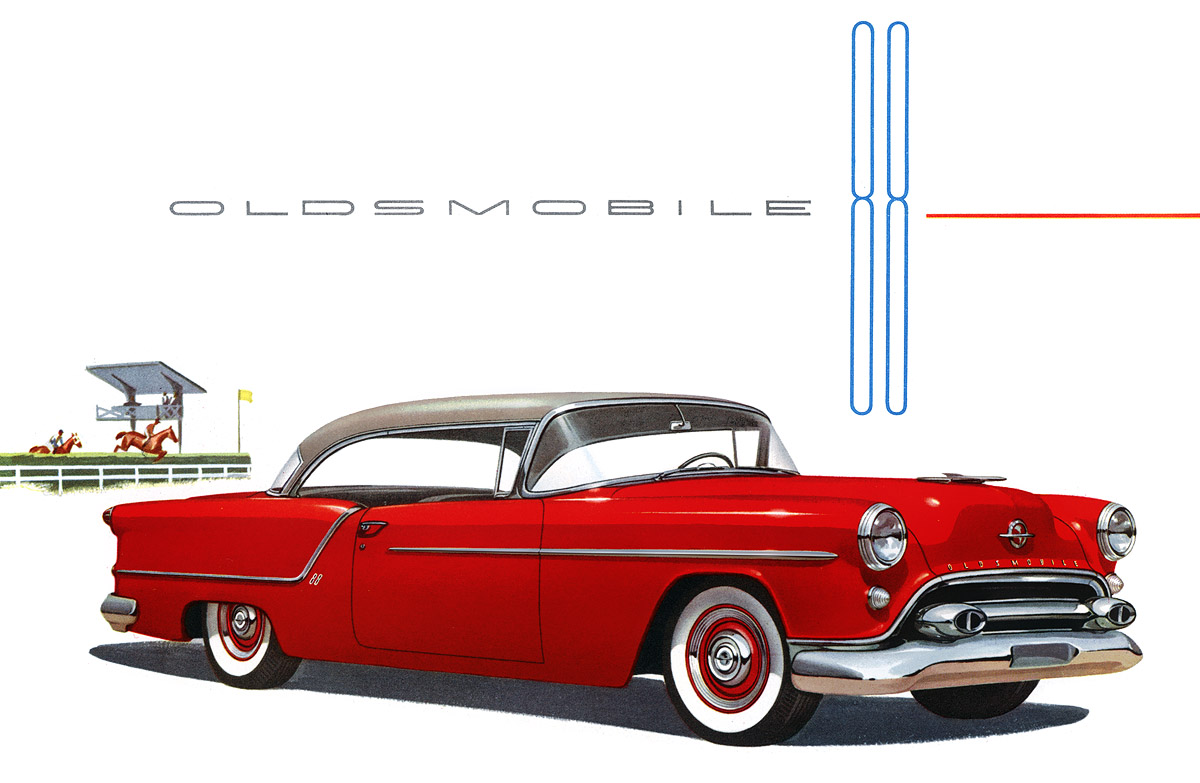 Plan59 :: Classic Car Art :: 1954 Oldsmobile 88 Holiday Coupe