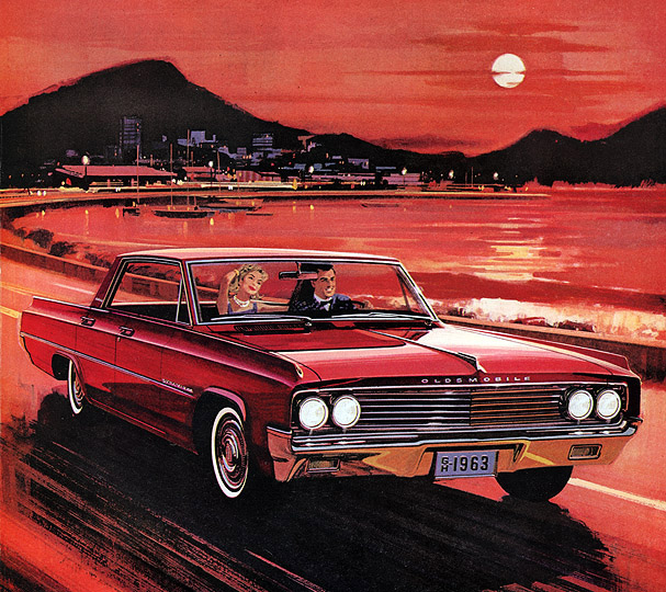 Plan59 Classic Car Art 1963 Oldsmobile Dynamic 88