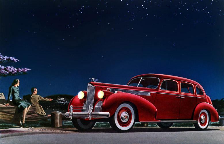 Classic Car Art Packard Super