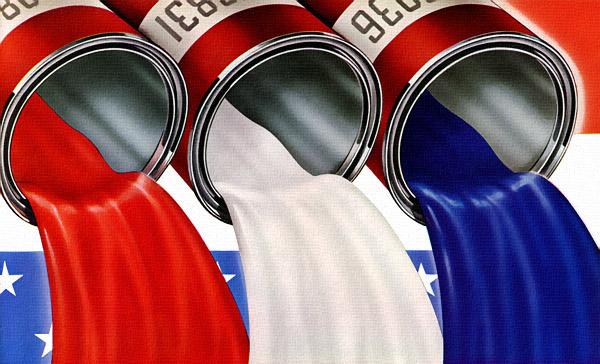 Plan59 Usa Red White Blue Patriotic Paint