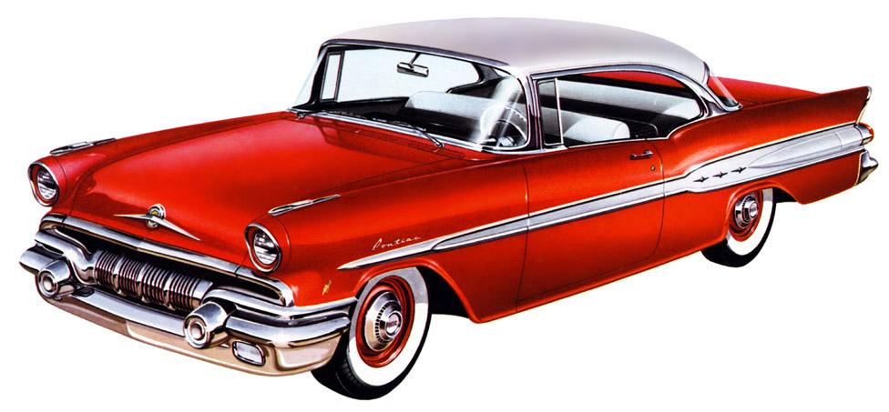 Plan59 Classic Car Art Vintage Ads 1957 Pontiac
