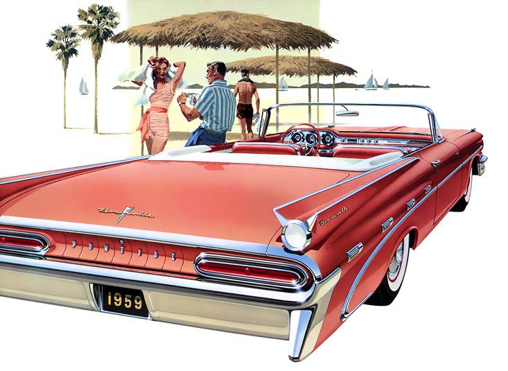 Plan59 Classic Car Art 1959 Pontiac Bonneville