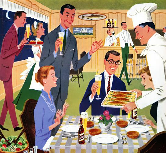 publicidad retro, anuncio de los años 50