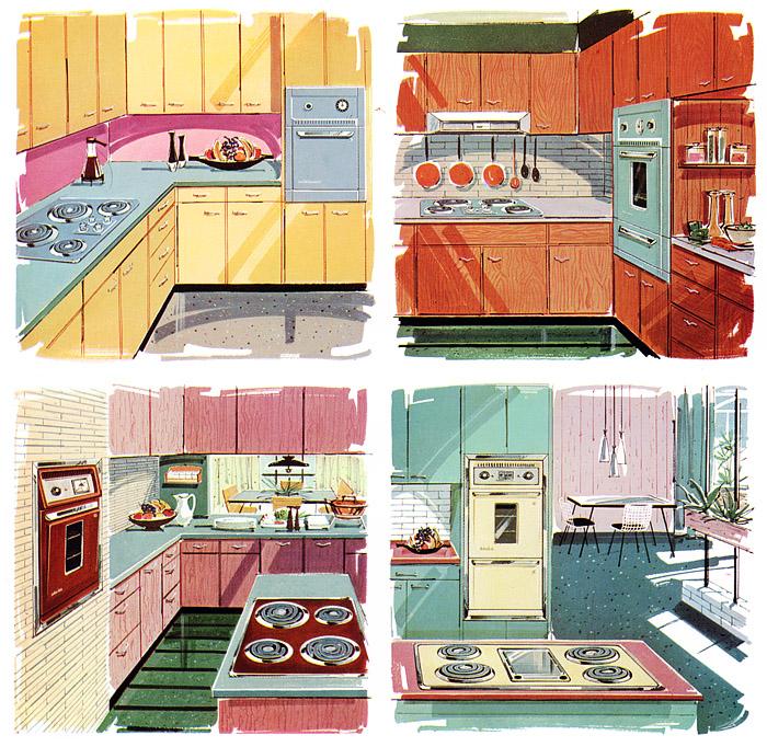 1960 home decor colors