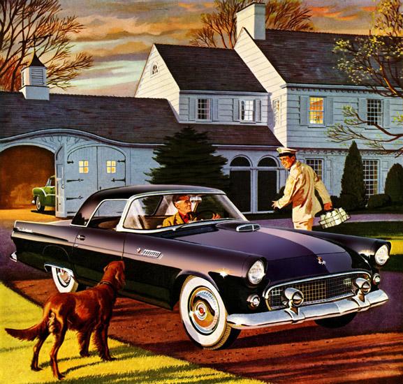 Plan59 Classic Car Art Vintage Ads 1955 Ford