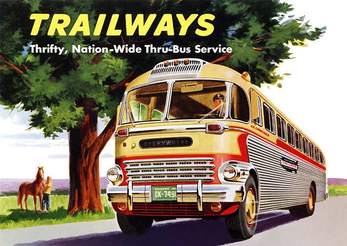 Fotók, képek vintage stílusban! Trailways_bus_1950_00