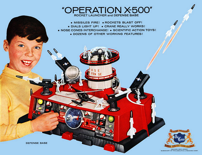"DeLuxe Reading ""Operation X-500"" Defense Base, 1960 