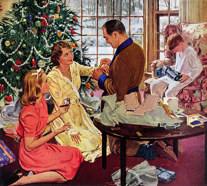 plan59 1950s christmas ads and holiday art swiss. Black Bedroom Furniture Sets. Home Design Ideas