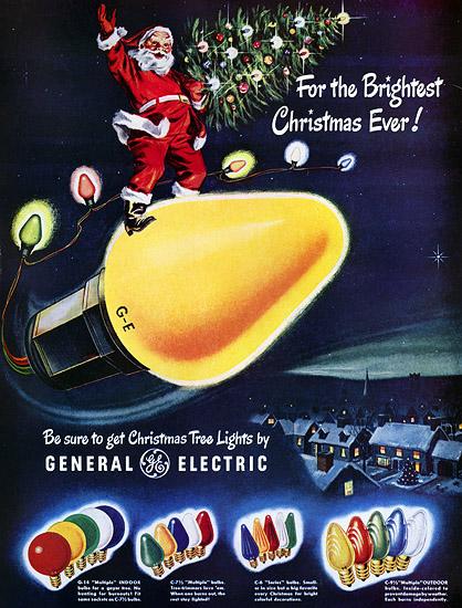 Ge Christmas Lights.Plan59 Retro Vintage 1950s Christmas Ads And Holiday Art