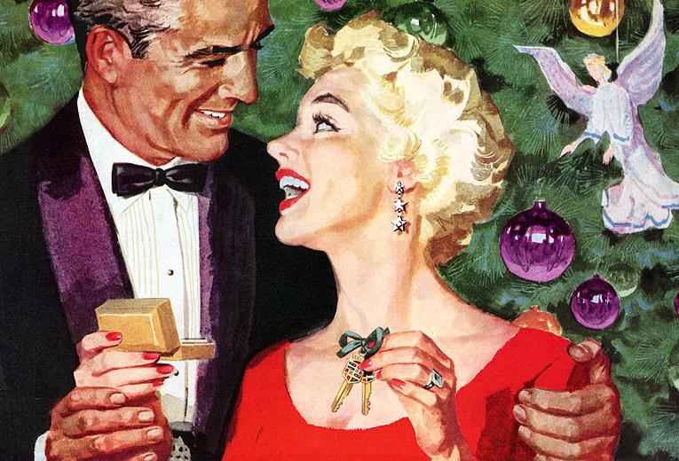 Plan59 :: 1950s Christmas Ads and Holiday Art :: Cadillac Christmas