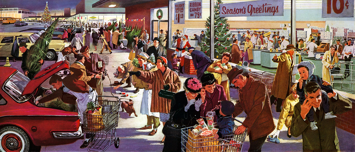 Plan59 :: Retro Vintage 1950s Christmas Ads and Holiday Art ...